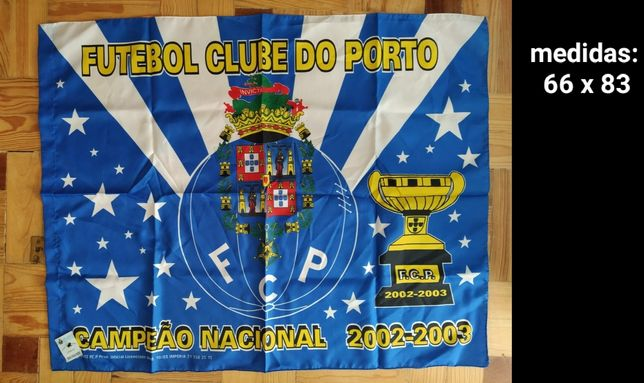 Bandeira futebol FC Porto Campeão 2002/03 e Sporting