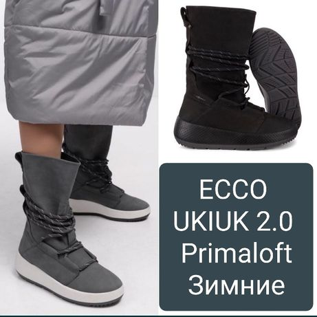 36,37,41р Новые зимние  женские ботинки ECCO UKIUK 2.0 Primaloft