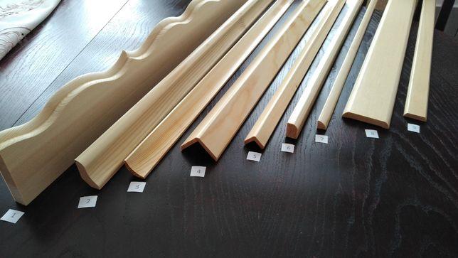 Listwy przypodłogowe wykończeniowe drewniane