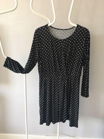 Sukienka czarna w kropki