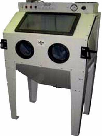 Tanque máquina decapagem peças c/ 350 lts, c/ luz interior e aspirador