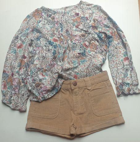 Conjunto calção Zara + blusa Mayoral
