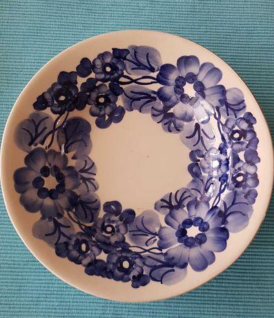 FAJANS, Ceramika, KOŁO, talerz, sygnowany, sr. 24cm, 2 sztuki