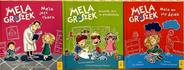 Książki Mela i Groszek, Ewa Skibińska, 3 części