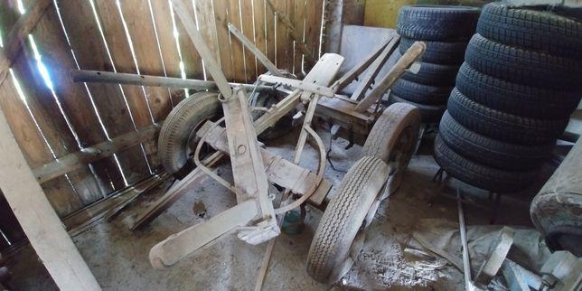 Wóz konny stary antyk drewniany