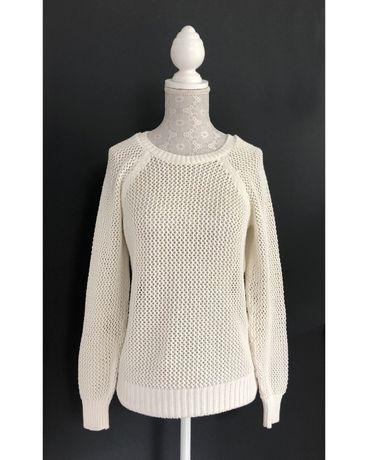 Sweter swterek ażurowy New Look kremowy 40 L ecru