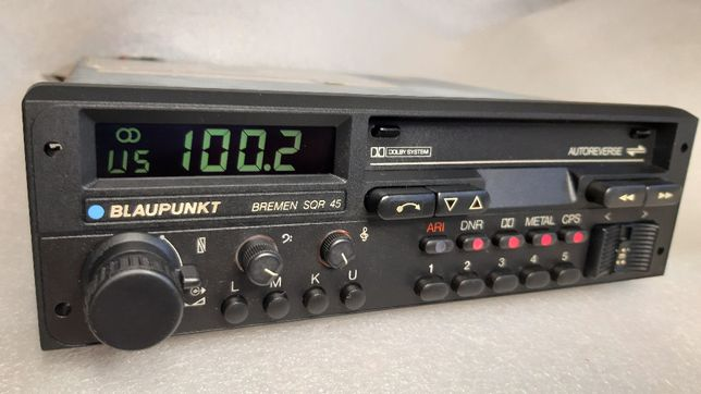 Radio BLAUPUNKT BREMEN SQR 45 Porsche code M-328 lata 1985-86