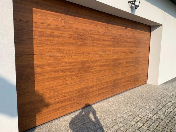 Brama garażowa panelowa złoty dąb WICHERS 5m