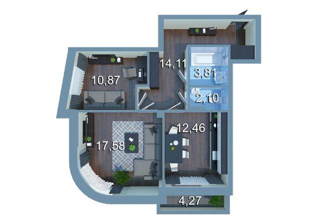 Лучшая цена на ВИДОВУЮ 2 комнатную квартиру в ЖК Урловский-2