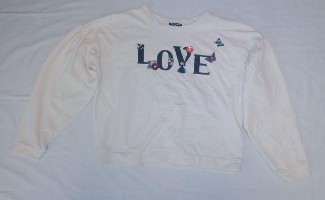 Bluza kremowa z napisem XL