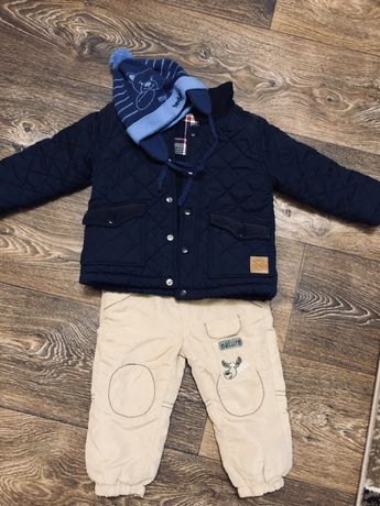 Утепленные/ теплые штанишки, размер 80
