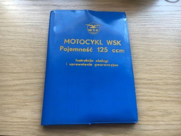 motocykl wsk KOMPLET instrukcja obsługi faktura 1977 stan idealny PRL