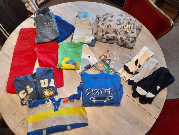 Ciuszki rozmiar 86 do 92 spodnie bluzy bluzki krótki rękaw szlafrok