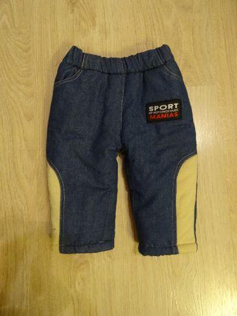 grube ocieplane spodnie 80/86
