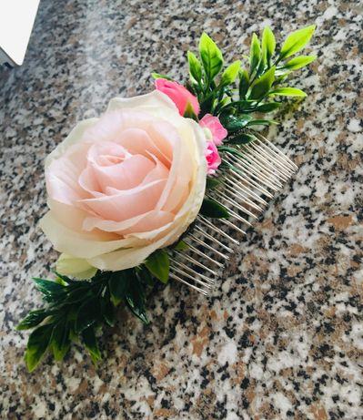 Ozdoba do włosów - Grzebyk kwiatowy
