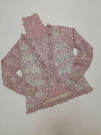 Тёплый свитерок с люрексовой нитью на 10-11 лет