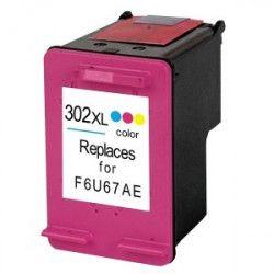 Tinteiro Compatível HP 302XL Colorido (F6U67AE)
