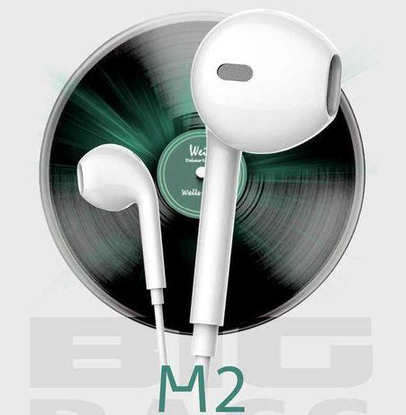 Headphones modelo M2+ com microfone (Novo)