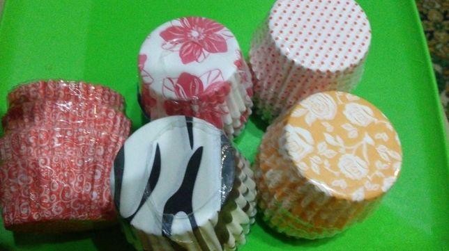 Формочки бумажные для кексов 100шт в упаковке