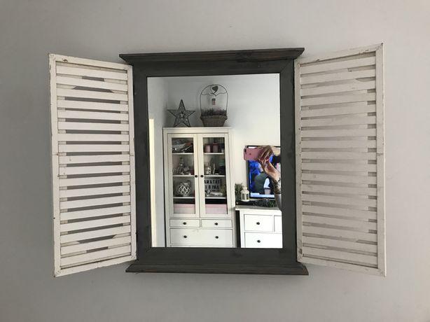 Lustro okiennica drewno vintage schabby chic postarzane