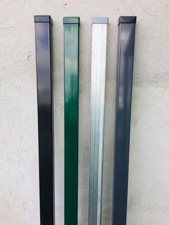 Słupki ogrodzeniowe 60x40 - kolor antracyt