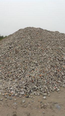 Gruz rozbiórkowy betonowy, ceglany, kruszony na drogę,kruszywo,szlaka