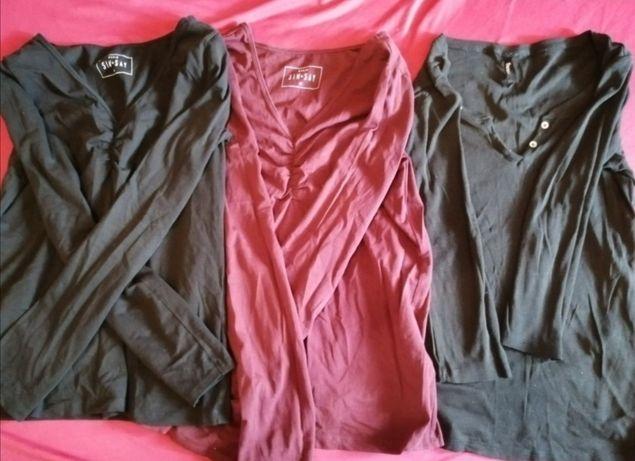 Bluzki damskie długi rękaw, r. XL 3 sztuki