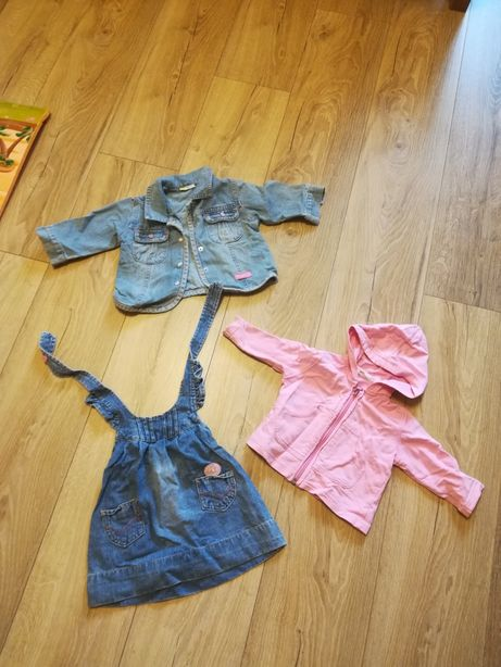 Вещи на 6мес, сарафан, джинсовая куртка