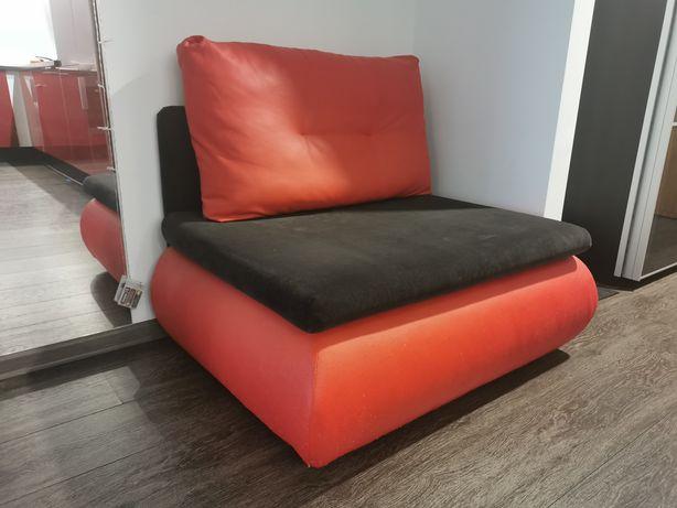 Pufa sofa fotel wersalka czerwona czarna