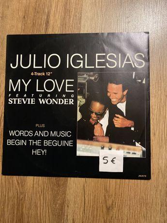 Vinil Julio Iglesias my love fearuring with steve wonder