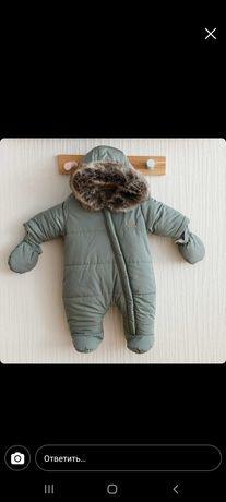 Продам детский зимний комбинезон р68
