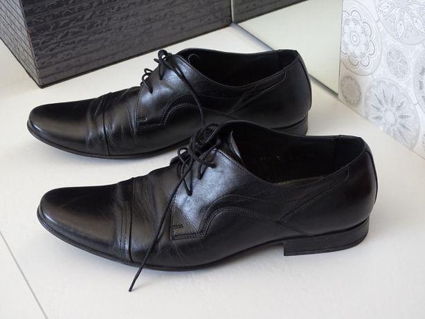 Buty wizytowe Ryłko r.43 półbuty skóra zadbane