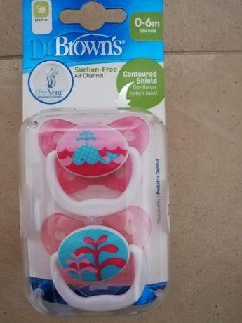 Dr Browns Smoczek Ortodontyczny Silikonowy Prevent Motyl 0-6M Różowy 2