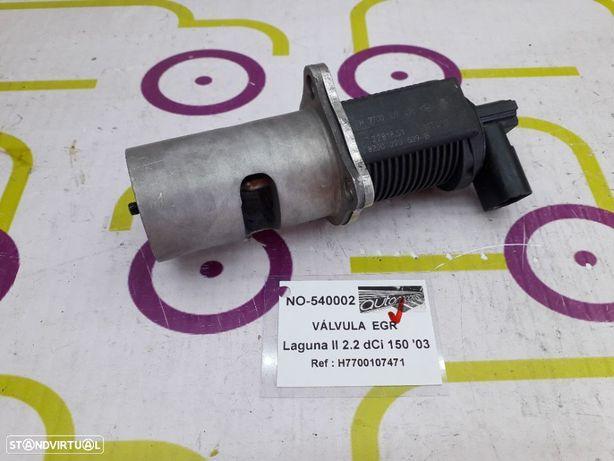 Válvula EGR Renault Laguna II 2.2 dCi 150Cv de 2003 - Ref : H7700107471 - NO540002