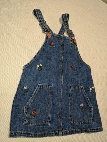 Сарафан джинсовый 3-4 года рост 98-104 см