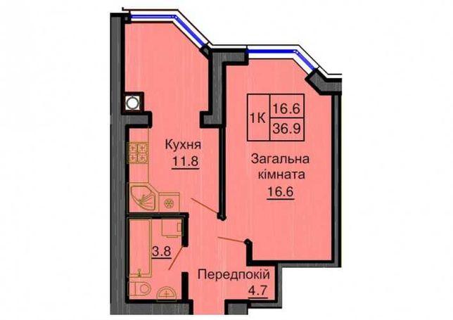 1к - 38,3м - 6 этаж | Дом сдан | ЖК София Резиденс