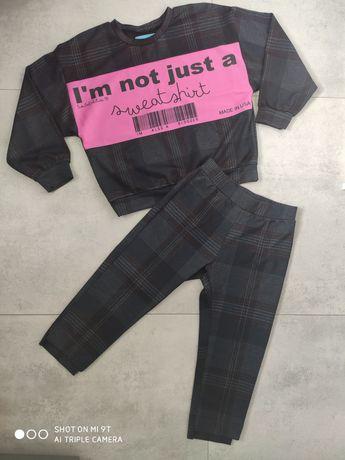 Komplet dziewczynka spodnie bluza 9/10 lat , rozm 134