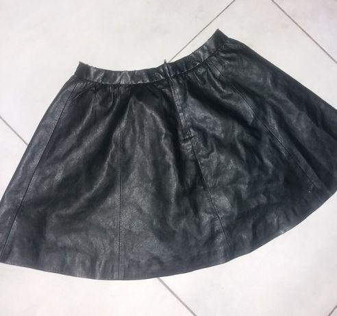 Spódnica skórzana H&M