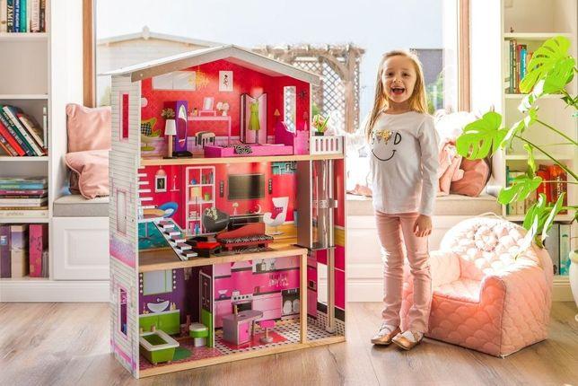 Duży domek z windą dla lalek Barbie Rezydencja Malibu