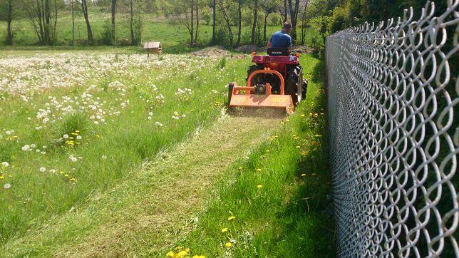 koszenie traw i nieużytków działek krzaków kosiarka bijakowa