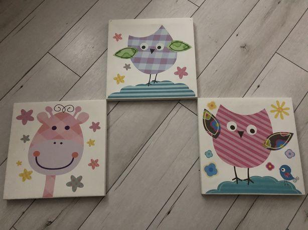 Obrazki dzieciece 3 sztuki