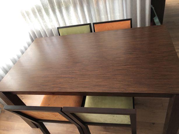 Mesa sala jantar madeira extensivel com 4 cadeiras
