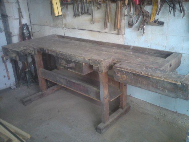 Stół stolarski drewniany