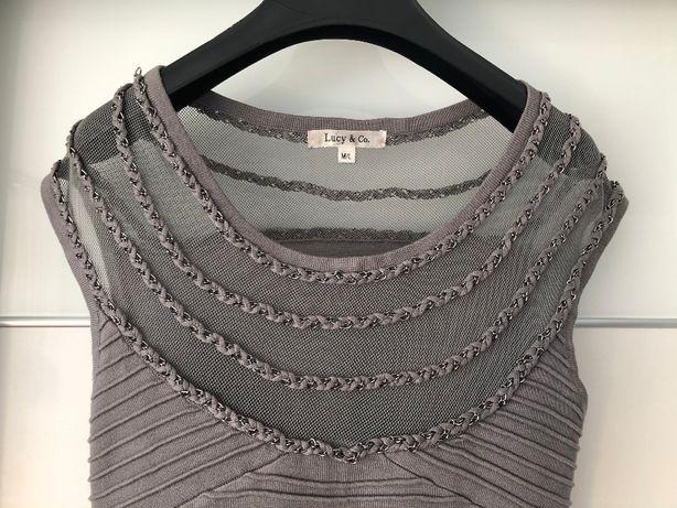 Sukienka szara LUCY&CO rozmiar M/L