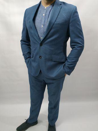 Garnitur męski Marks & Spencer rozmiar l marynarka plus spodnie tailor