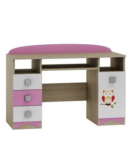 SOWY B7 + grafika biurko dziecięce 120x50 w.74