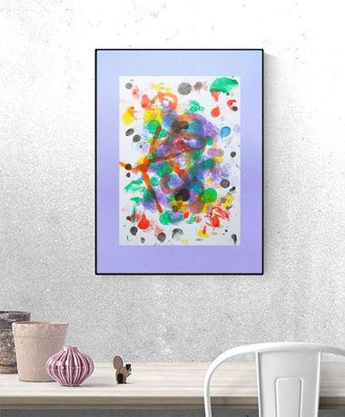 ładna abstrakcja, kolorowa grafika do salonu, abstrakcja obraz do loft