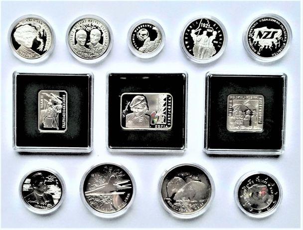 Kolekcja srebrnych monet rocznik 2011