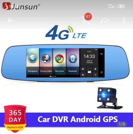 Kamerka Junsun A800 kamera cofania, internet LTE, nawigacja