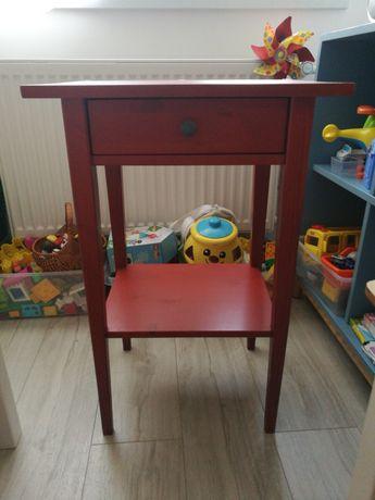 Hemnes Ikea stolik nocny TANIO stan BDB oryginalny czerwony kolor
